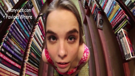 ManyVids PavlovsWhore A risky facial in the bookstore