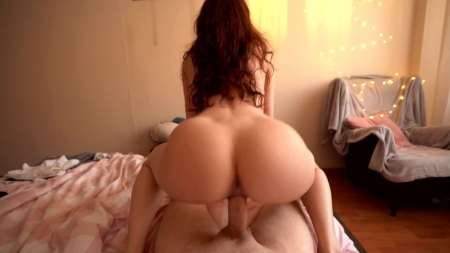 Sofia Simens Fantastic Redhead Girlfriend Makes Him Cum Twice